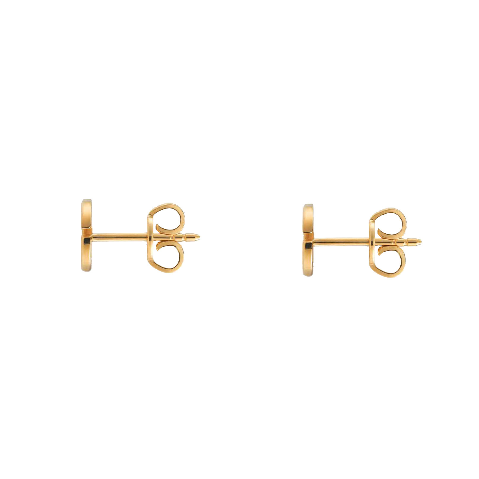 Gucci Runnging G Yellow Gold Icon GG Stud Earrings