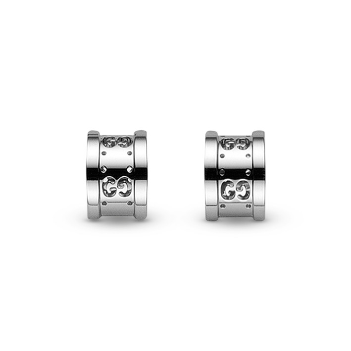 Gucci Icon Twirl 18Kt White Gold Earrings