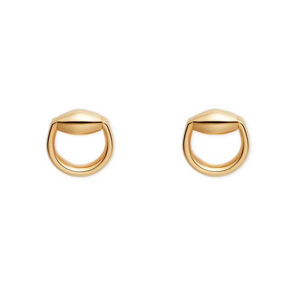 Gucci Yellow Gold Horsebit Earrings