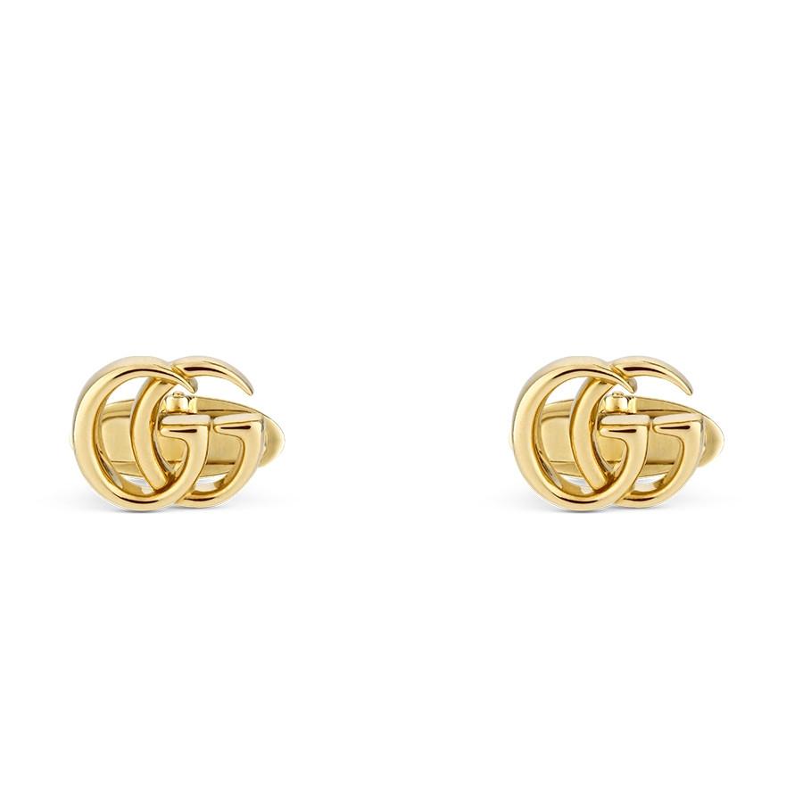 Gucci Yellow Gold GG Running Double G Cufflinks
