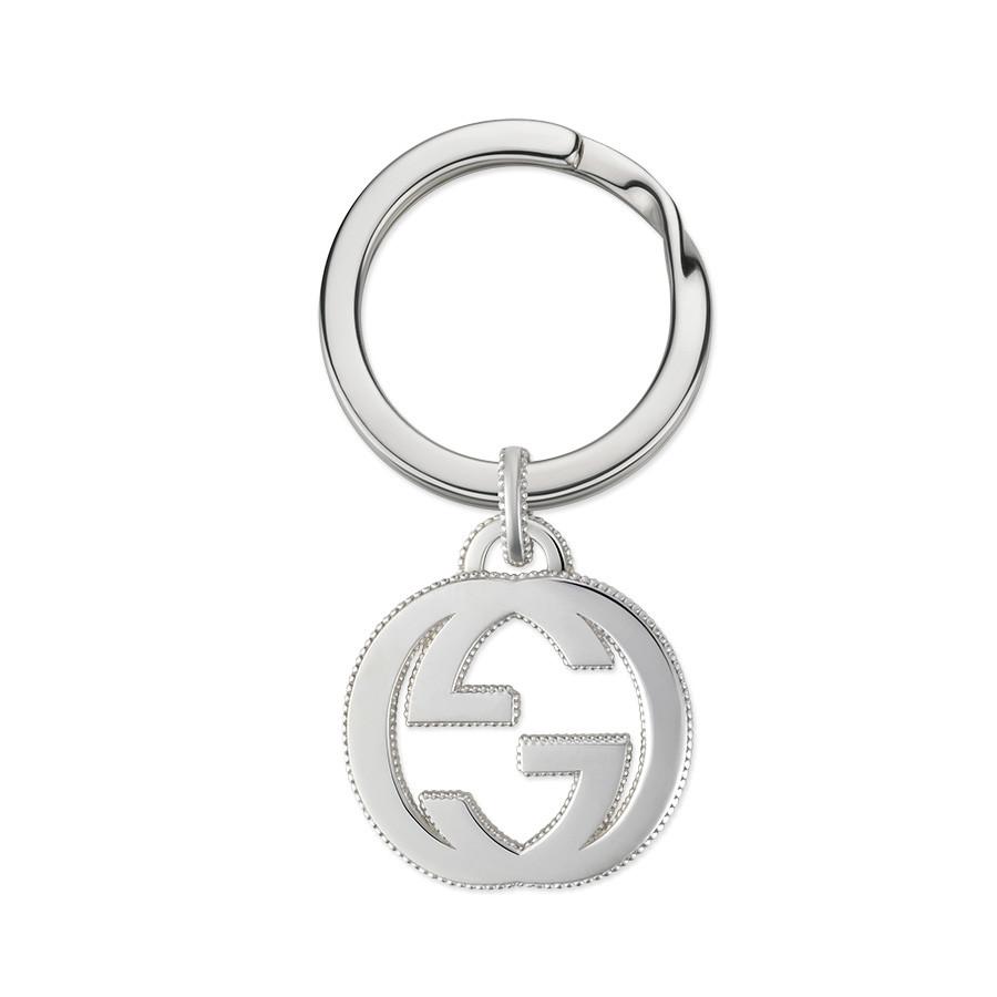 Gucci Sterling Silver Interlocking G Keyring