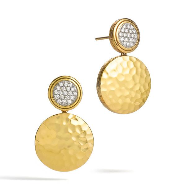 John Hardy Palu Gold & Diamond Earrings