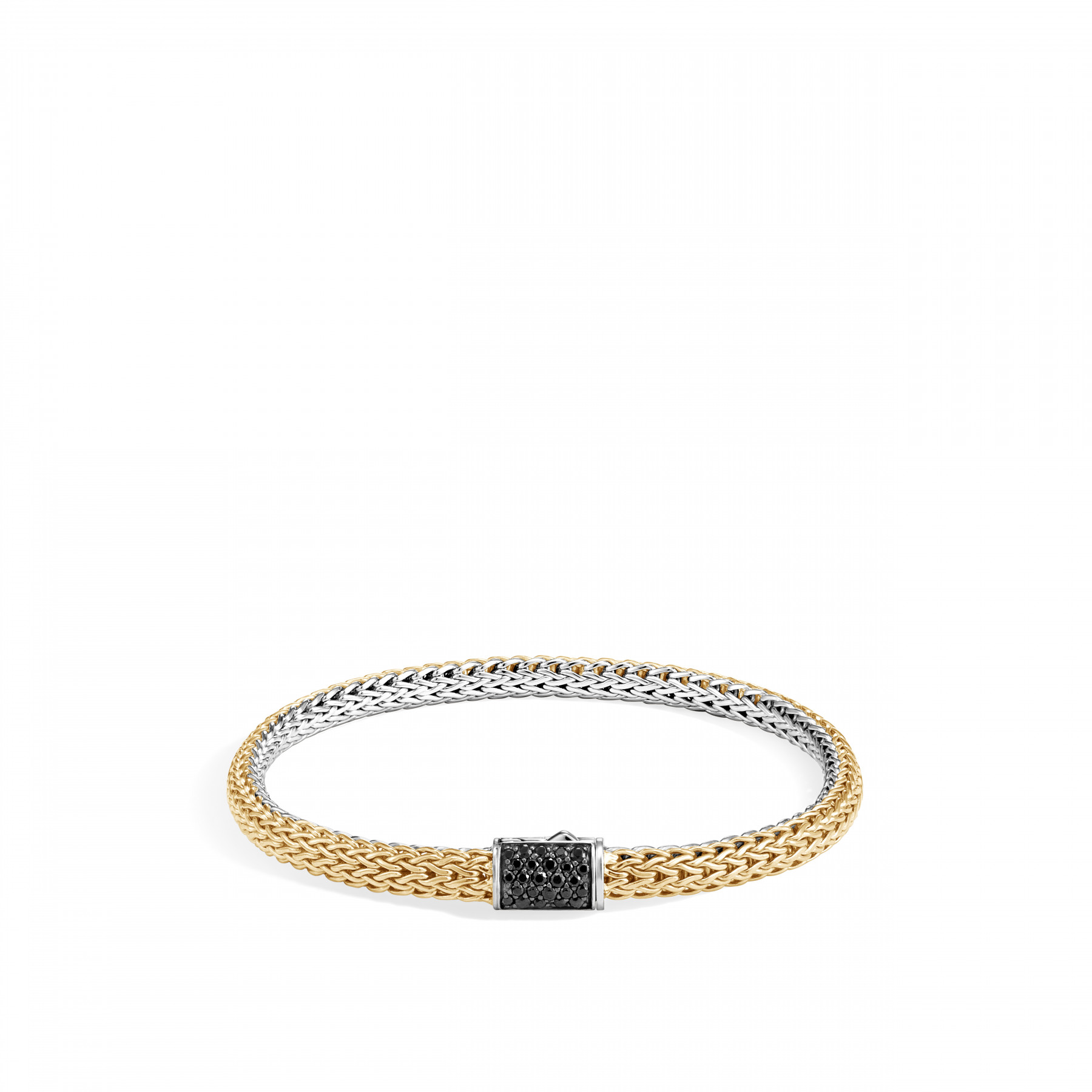 John Hardy Reversible 5mm Sapphire and Diamond Bracelet in Silver and 18K gold image