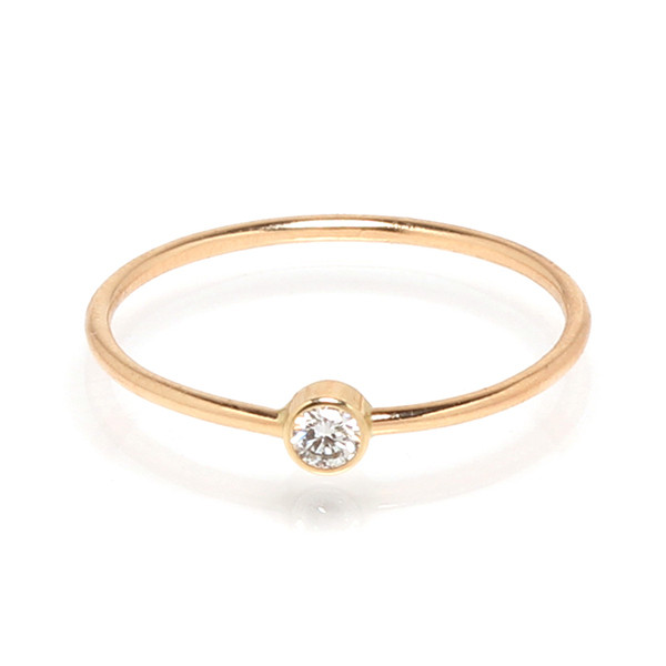 Zoe Chicco Thin Diamond Stackable Band Ring