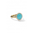 IPPOLITA 18K Gold Lollipop Small Turquoise Ring with Diamonds