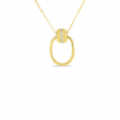 Roberto Coin Opera Diamond Door Knocker Necklace