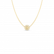 Roberto Coin Pois Moi Diamond Circle Necklace in 18K Gold
