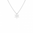 Roberto Coin Frozen 2 18kt White Gold Diamond Solitaire Snowflake Necklace