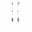 Roberto Coin Disney Frozen 2 Dangle Earrings with Amethyst and Diamonds