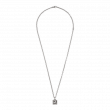 Gucci G Cube Cut Out  Silver Pendant Necklace main image