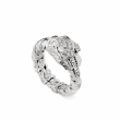 Gucci Dionysus 18K White Gold Ring with Pavé Diamonds