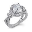 Simon G. Passion Diamond Flower Engagement Ring