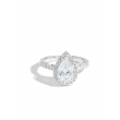 MARS Luxe White Gold Diamond Pear Halo Engagement Ring Setting