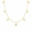 Roberto Coin Seven Diamond Station Necklace in 18K Gold