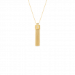 Roberto Coin Princess Diamond Tassel Necklace in 18K Gold main view