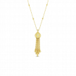 Roberto Coin Princess Tassel Necklace in 18K Gold front view
