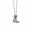 Roberto Coin Diamond Cowboy Boot Necklace in 18K White Gold