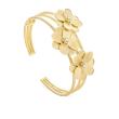 Marco Bicego 18k Yellow Gold Petali Triple Flower Cuff Bracelet