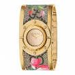 Gucci Gold and Canvas Twirl Bracelet Watch