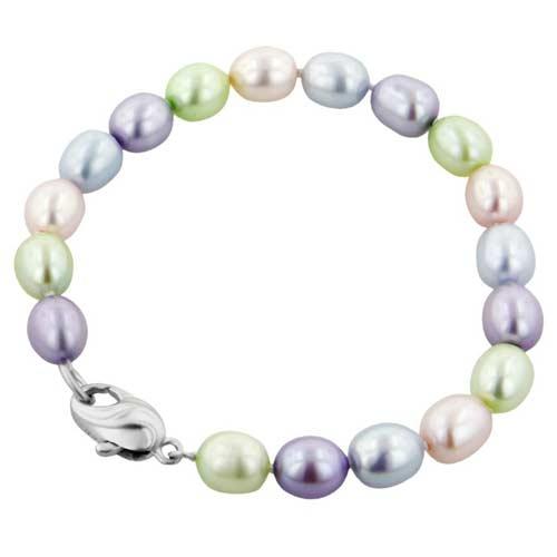8eff05c3b0e9a SKU-HN00LB5457JC6 Honora Girls Oval Candy Freshwater Cultured Pearl ...