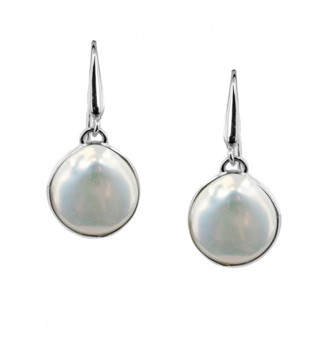 bc1d6f685 $25.00 More Details · Honora White Baroque Pearl Coin Sterling Silver  Dangle Earrings