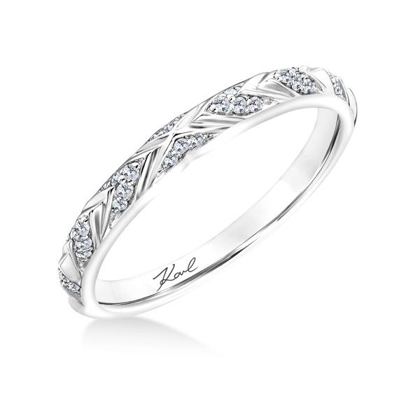 120 00 More Details Karl Lagerfeld 31 Ka106 Kollection 3 Engraved Diamond Wedding Band