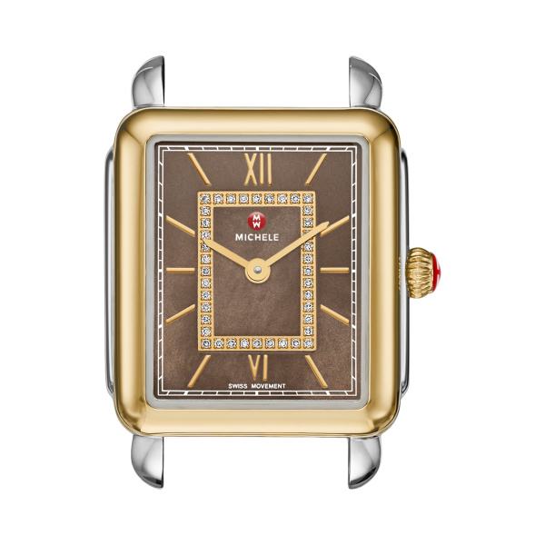 3fa2fac33c2  0.00 More Details · Michele Deco II Mid-Size Two Tone Diamond Cocoa Dial  Watch (Band Sold Separately