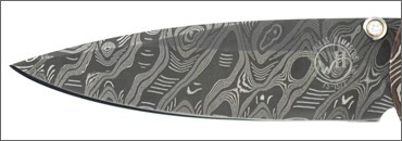 Hand Forged Knife Blade Made from Damascus Steal with a Hornet's Nest Pattern