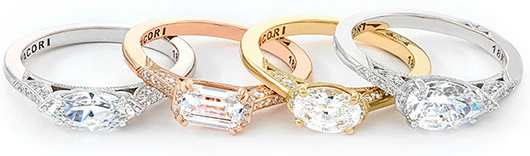 Simply Tacori East-West Engagement Rings
