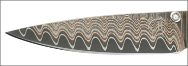 Knife Blade Made from Copper Wave w/VG 5 core