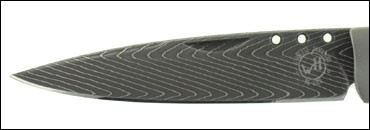 Hand Forged Knife Blade Made from Damascus Steal with a Herringbone Pattern