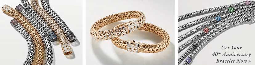 John Hardy 40th Anniversary Bracelets