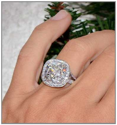Big Halo engagement ring