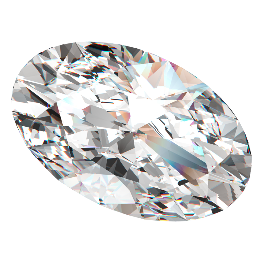 0.80 Carat Oval Diamond / G / SI1